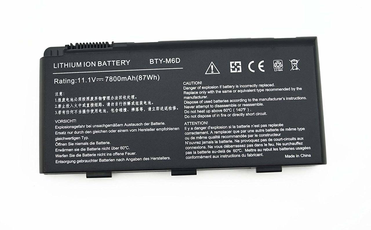 MSI GT780 GX660 Batarya