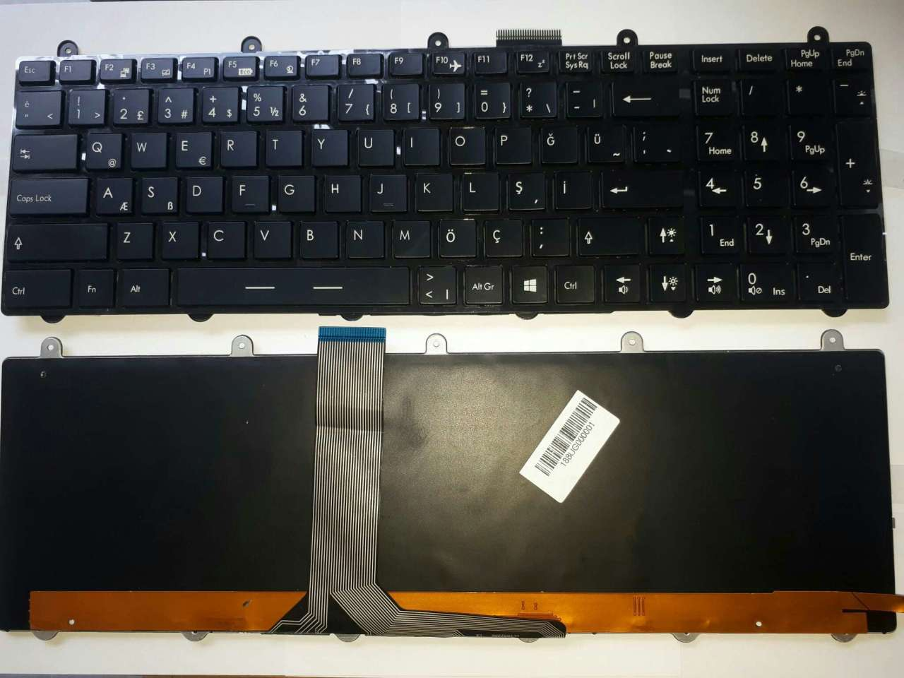 MSI MS-1757 MS-168C Ledli Klavye